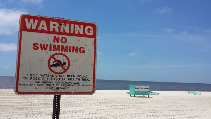 Advisory Biloxi Beach Closed Seafood Collected Nearshore May Be