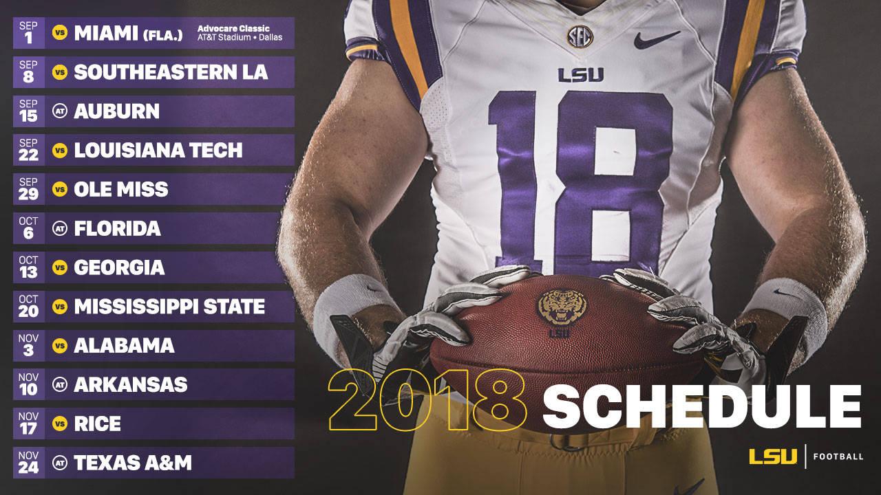Lsu Announces 2018 Football Schedule