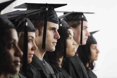 Graduates in Cap and Gown_57915