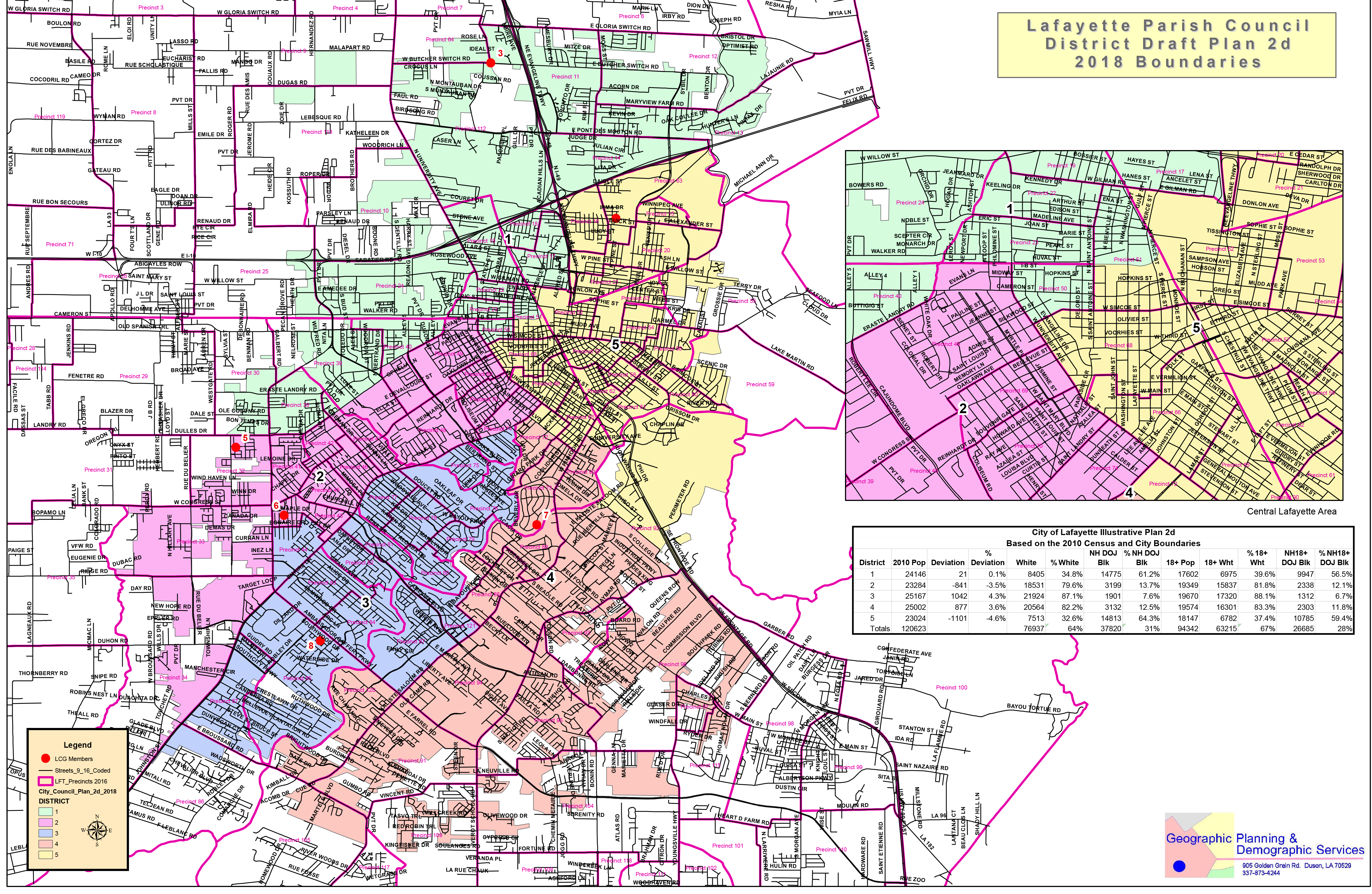 First Look At The District Boundaries For The Proposed New City And Parish Councils In Lafayette