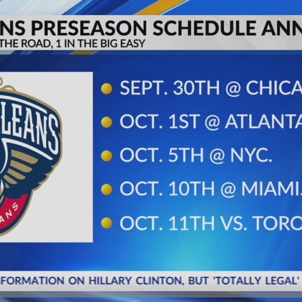 Pelicans take flight for most of 2018 preseason with 4 road games, 1 home game