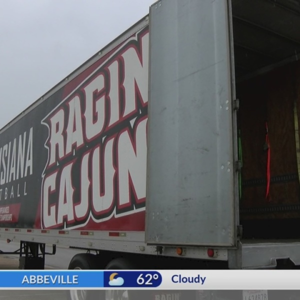 Ragin Cajuns accepting donations today for victims of Hurricane Florence near Coastal Carolina