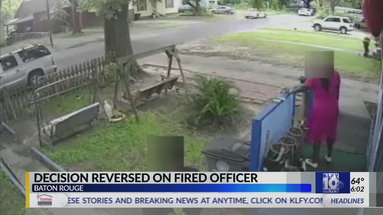Board reverses firing of officer who shot at fleeing man