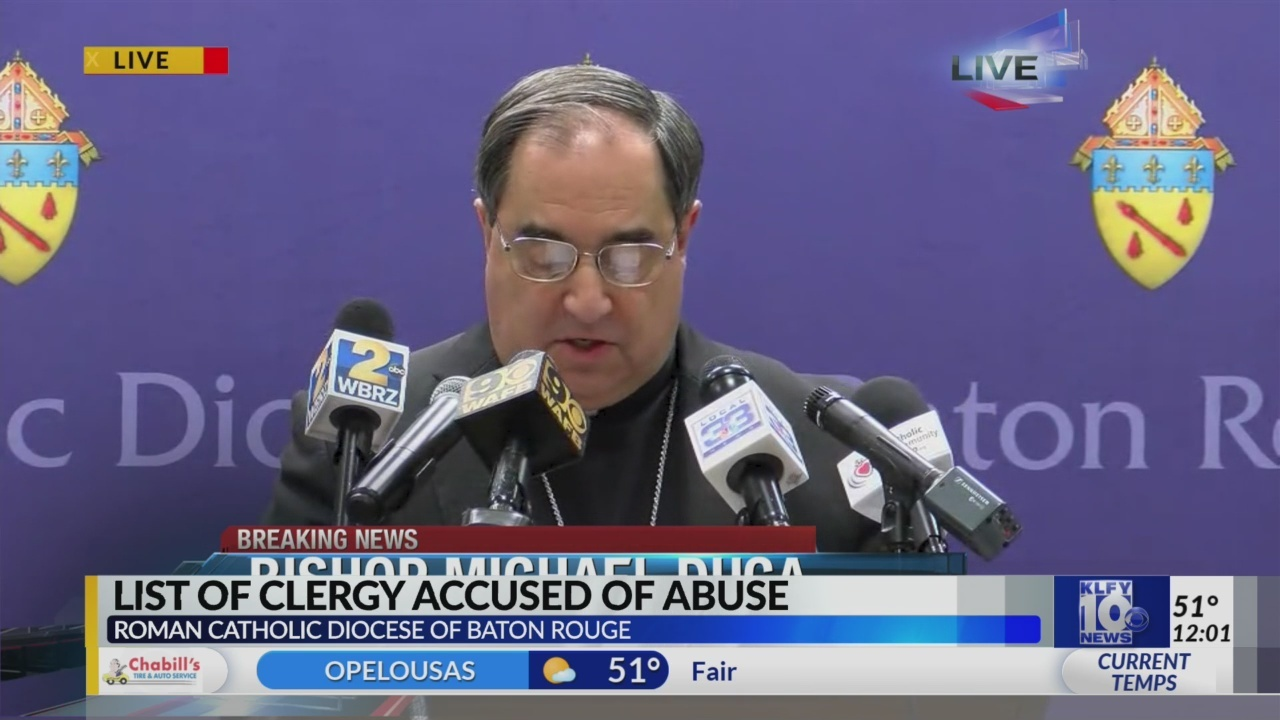 Catholic Diocese of Baton Rouge releases list of clergy