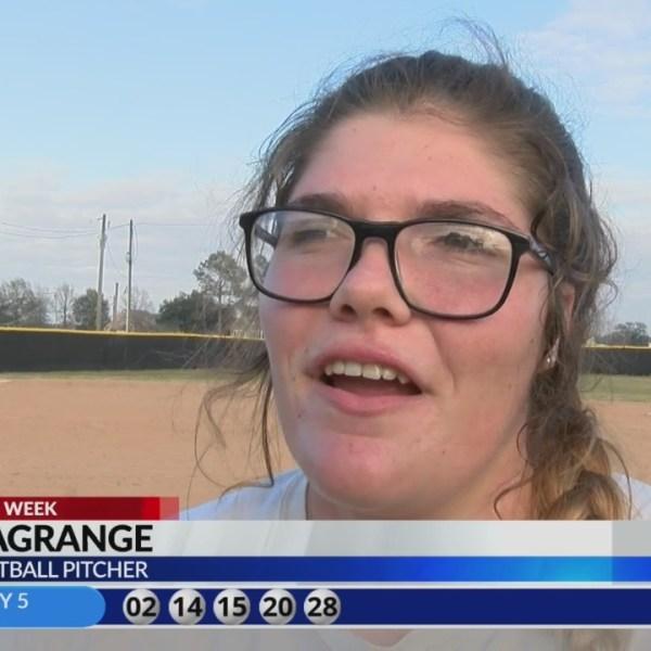 KLFY Athlete of the Week: Crowley Softball pitcher Nella LaGrange