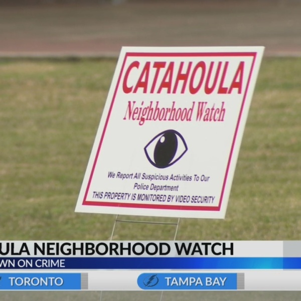 Residents are helping curb crime in Catahoula