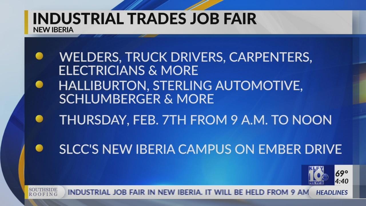 Industrial Job Fair to be Held in New Iberia Tomorrow