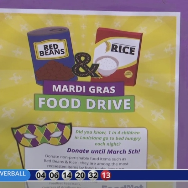 Mardi gras food drive part one