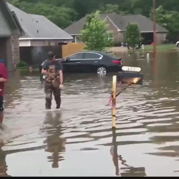 Heavy rains lead to flooding in Haughton