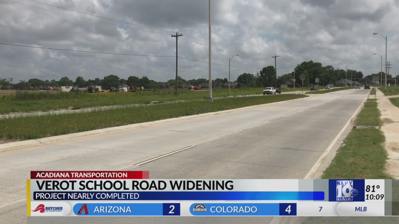 Verot School Road project nearing completion