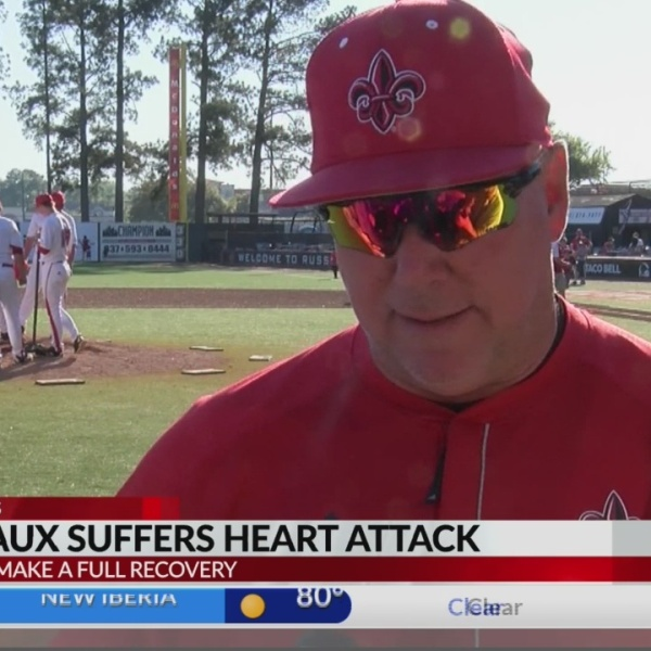 Coach Robicheaux heart attack