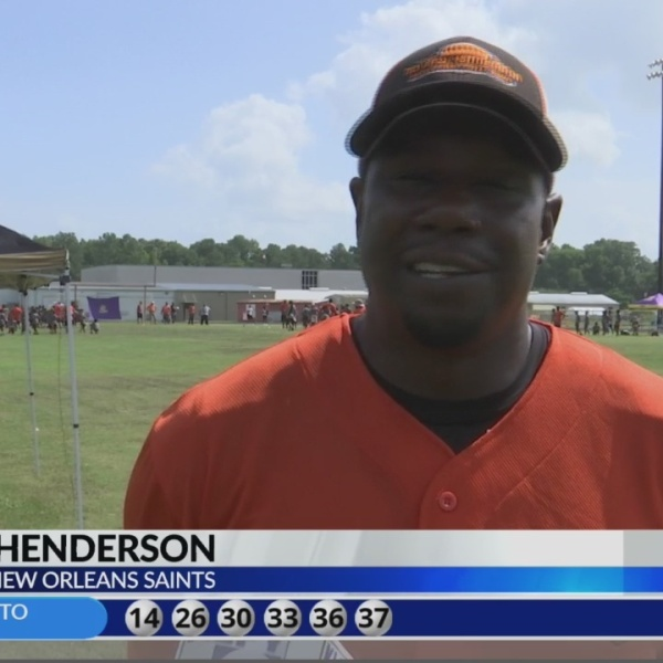 Former New Orleans Saint, Opelousas native Devery Henderson hosts camp Opelousas High