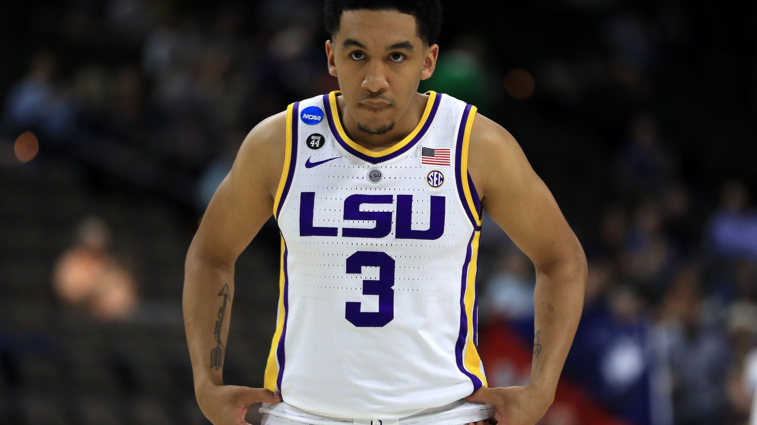 Tremont Waters LSU 1st Round NCAA Tournament