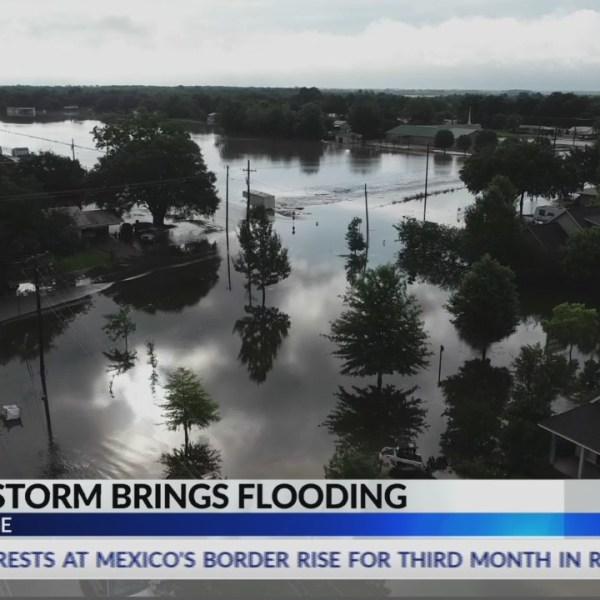 Severe flooding in Breaux Bridge