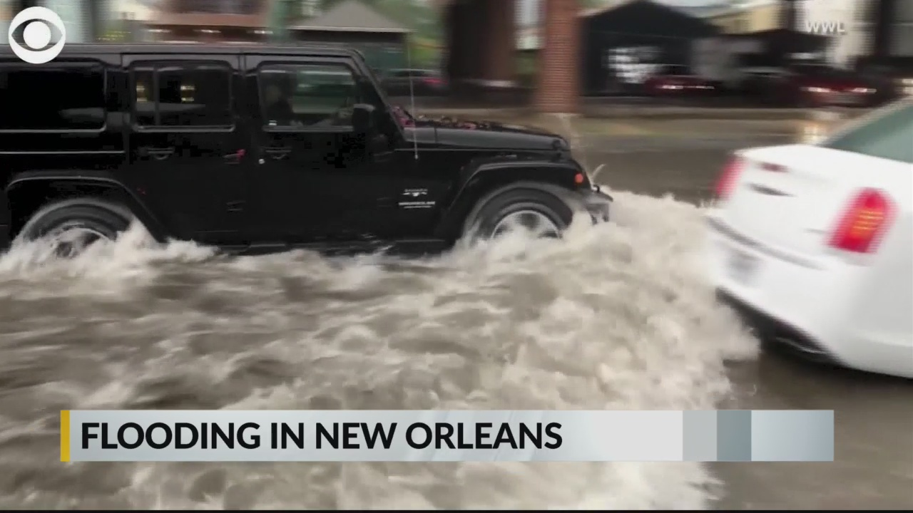 100-year storm' strikes New Orleans as city already braces