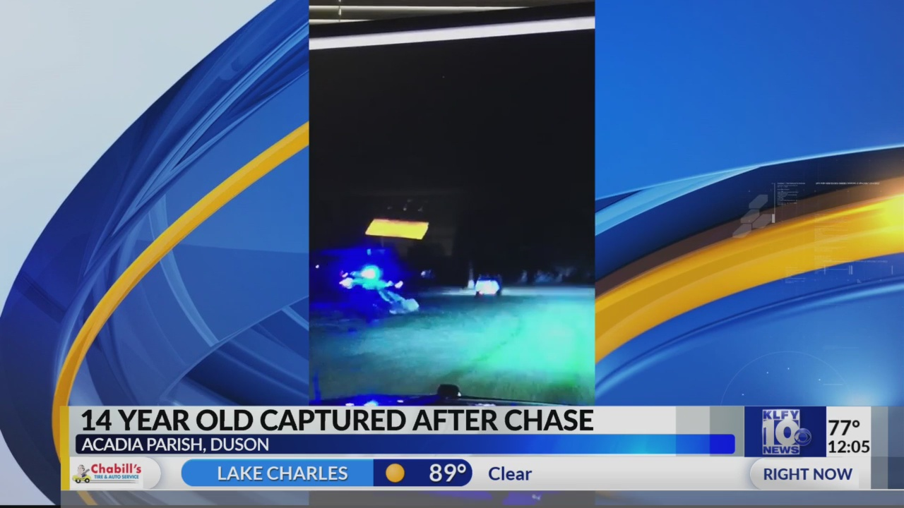 Duson PD: Teen leads chase from Acadia to Lafayette Parish