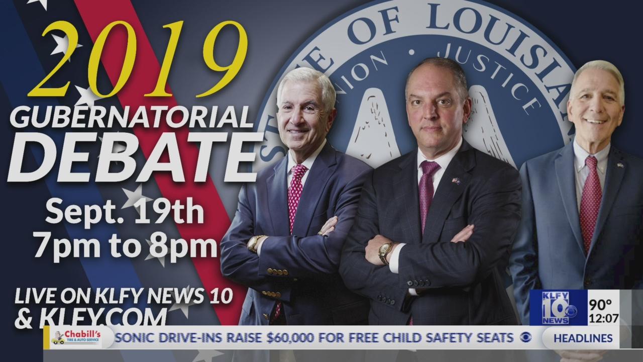Nexstar Media Group hosting first Louisiana governor debate