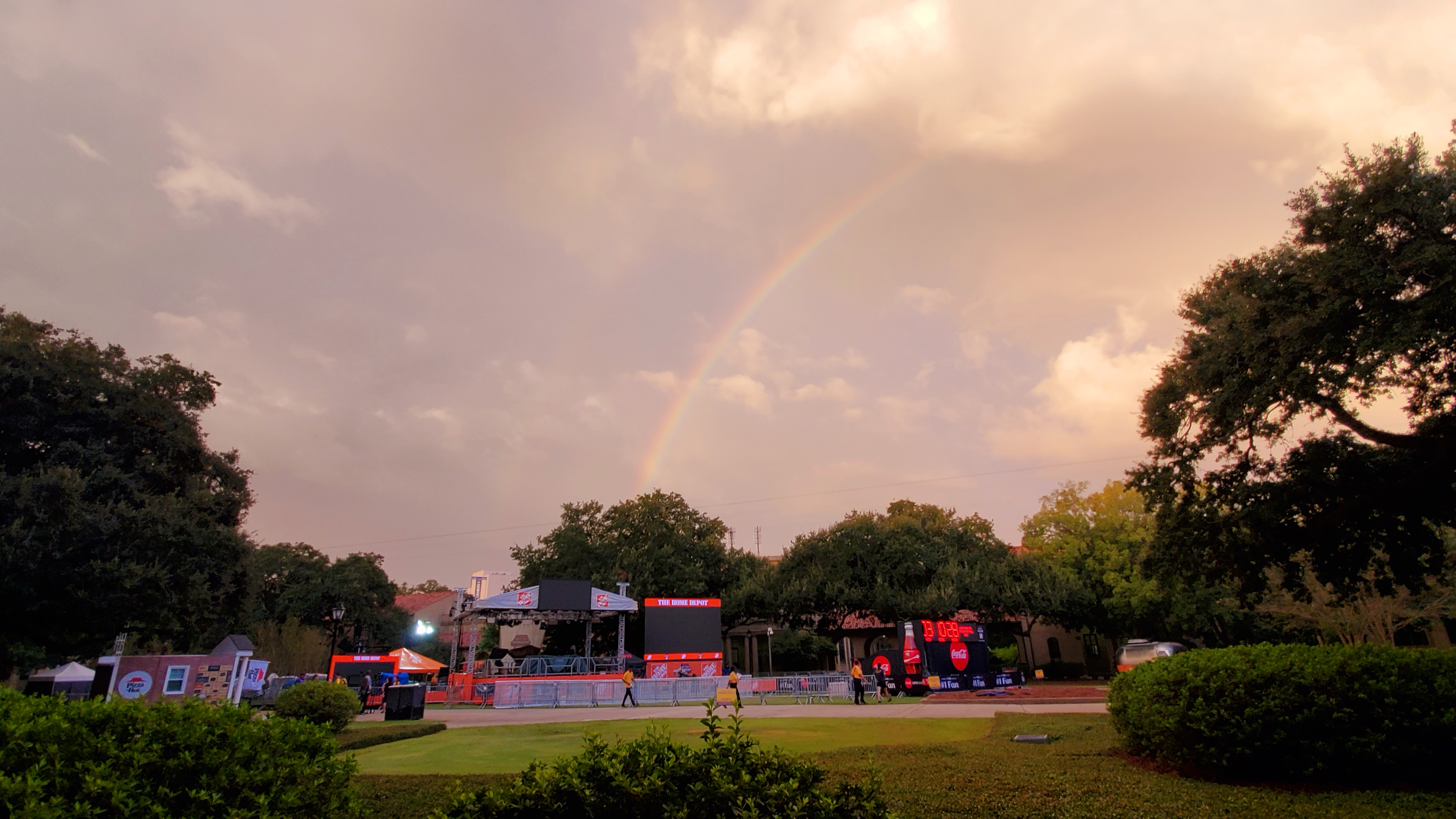 Rainbow Shines Over College Gameday Set On Lsu S Campus Klfy