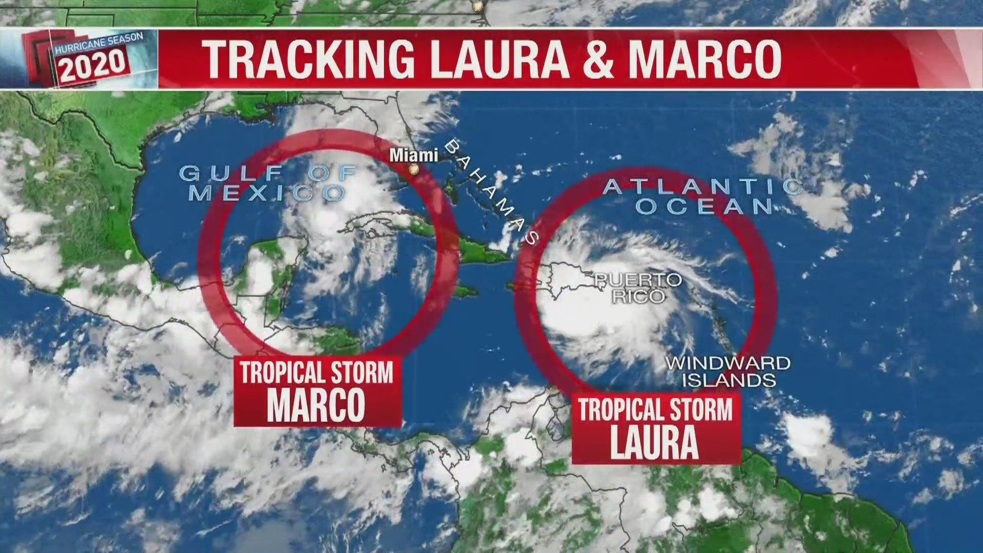 Tracking The Tropics Tropical Storms Laura And Marco Moving Toward The Gulf Of Mexico Klfy