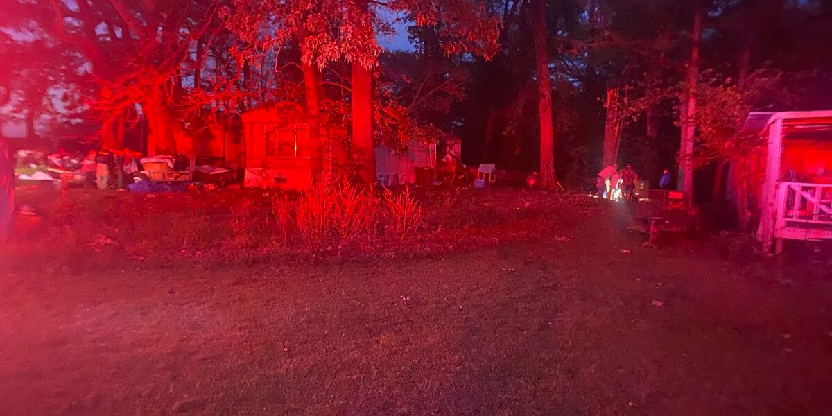 A 48-year-old man was killed when a tree fell on his mobile in Blanchard the night of Saturday, April 9, according to the Caddo Parish Sheriff's Office. (Source: Kenley Hargett)