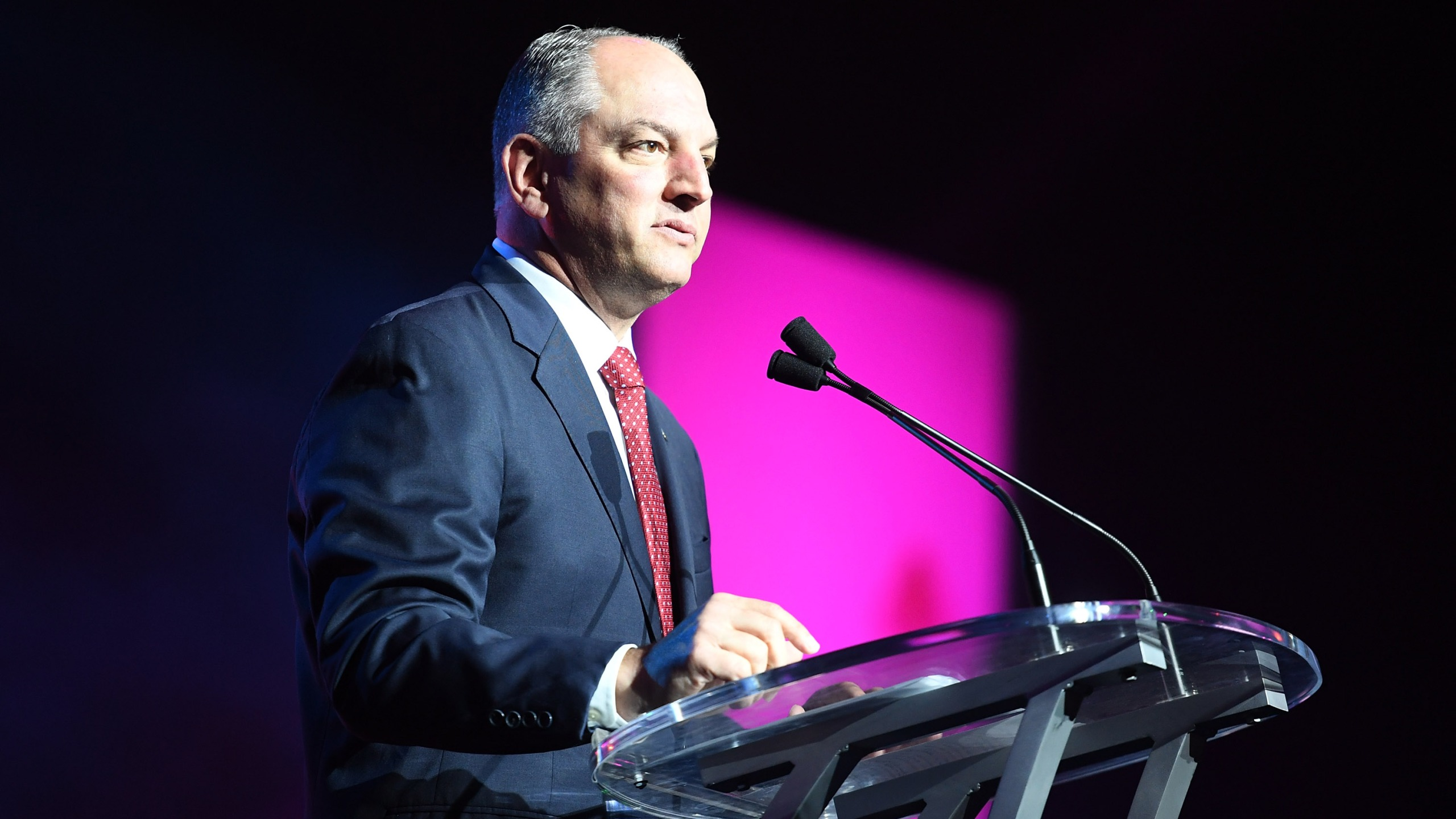 NEW ORLEANS, LA - JUNE 30: Governor John Bel Edwards speaks onstage at the 2017 ESSENCE Festival presented by Coca-Cola at Ernest N. Morial Convention Center on June 30, 2017 in New Orleans, Louisiana. (Photo by Paras Griffin/Getty Images for 2017 ESSENCE Festival )