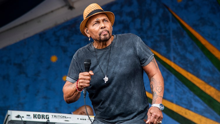 Aaron Neville performs at the New Orleans Jazz and Heritage Festival on Saturday, May 4, 2019, in New Orleans. (Photo by Amy Harris/Invision/AP)