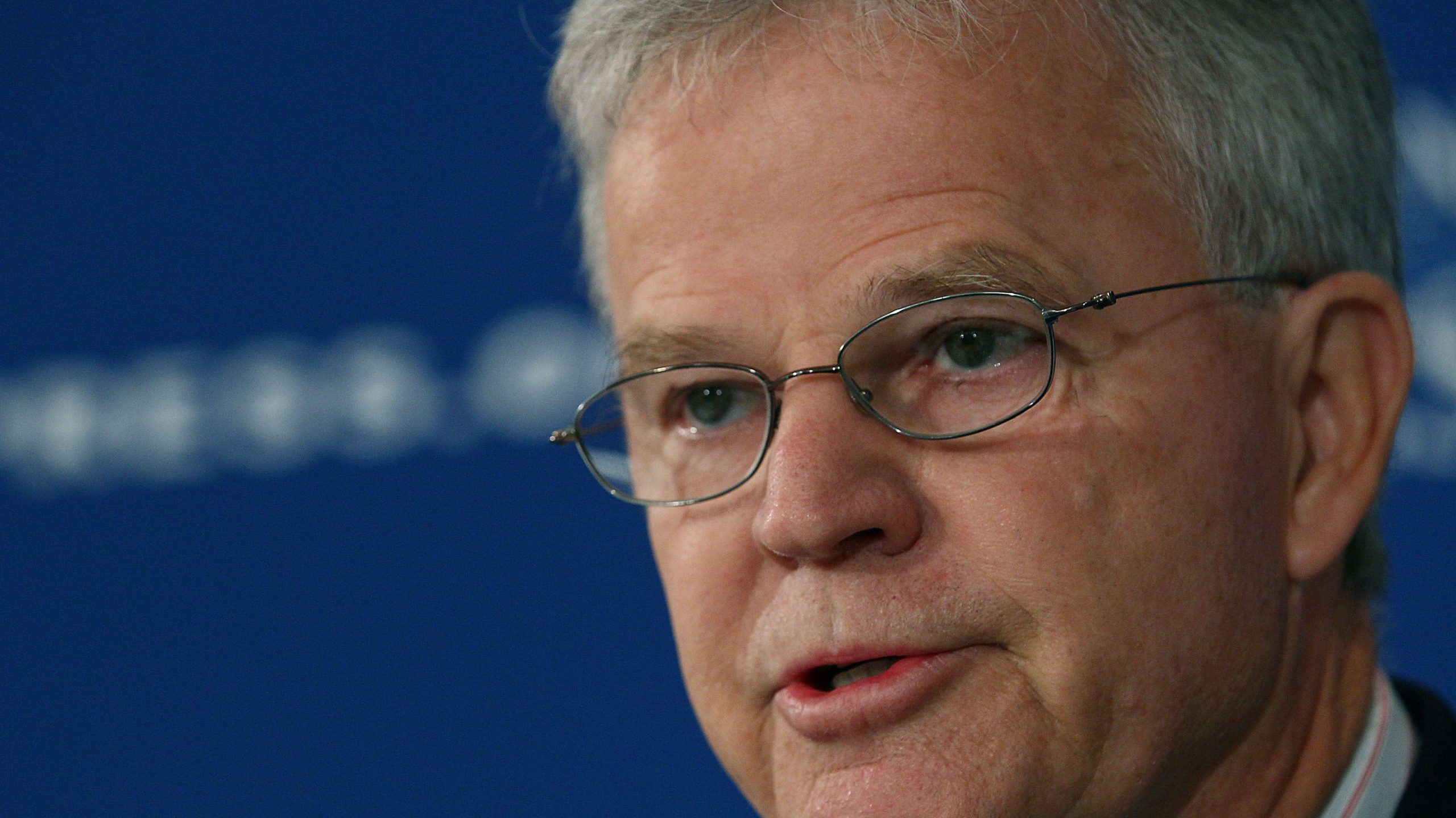 WASHINGTON, DC - AUGUST 15: Republican candidate for president Buddy Roemer, speaks at the National Press Club, on August 15, 2011 in Washington, DC. Roemer said that large anonymous campaign donations, and special interest money remain a corrupting influence on todays politics. (Photo by Mark Wilson/Getty Images)
