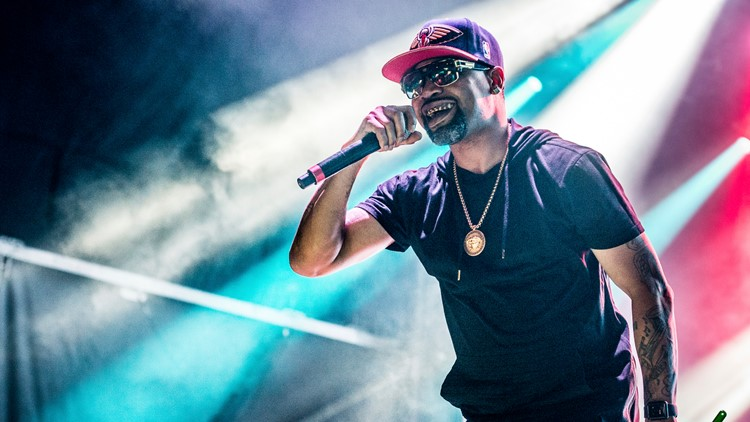Juvenile performs at BUKU Music and Art Project at Mardi Gras World on Friday, March 10, 2017, in New Orleans. (Photo by Amy Harris/Invision/AP)