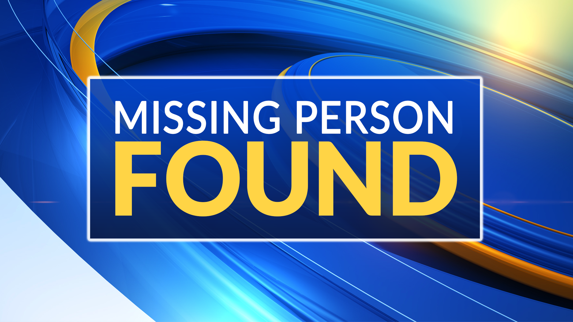 Missing Person Found