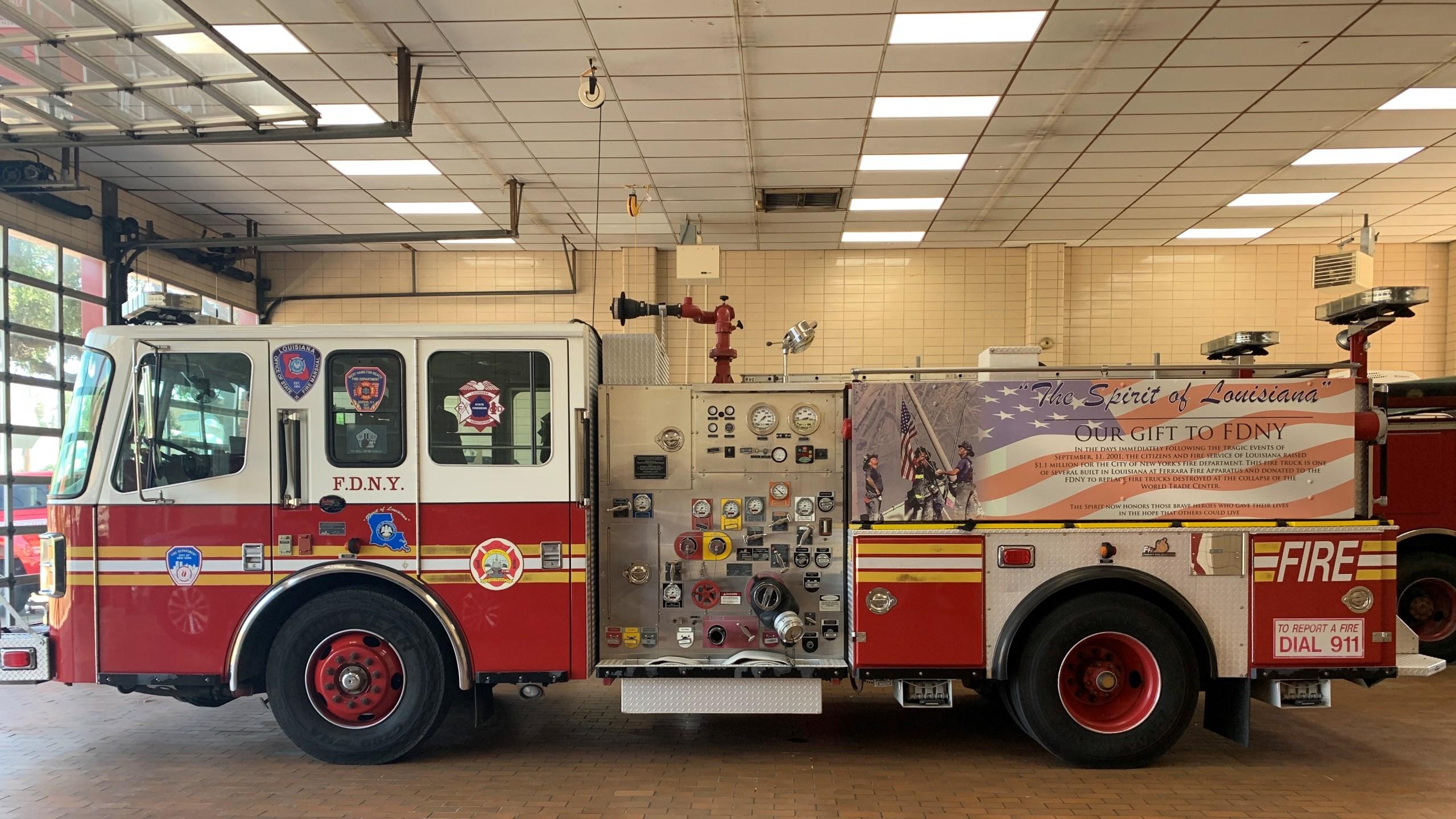 """Spirit of Louisiana"" fire truck (courtesy Lafayette Fire Department)"